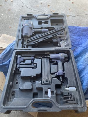 Set of nail guns, pin nailer, brad nailer, palm nailer, framing nailer for Sale in Los Gatos, CA