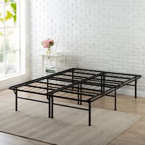 Spa Sensations by Zinus Elite 14inch SmartBase Steel Bed Frame QUEEN Description: AVAILABLE 6 Size queen Finish Black Manufacturer Part Number SPA- for Sale in Houston, TX