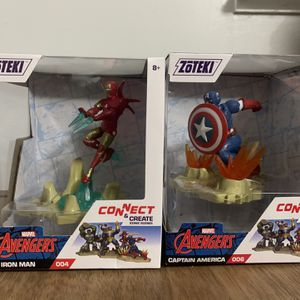Iron Man and Spider Man Zoteki Figures for Sale in Anaheim, CA