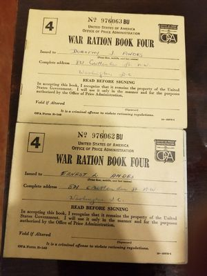Vintage two war ration book no.4 1943 for Sale in MD, US