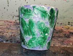 Hand Painted porcelain flower pot for Sale in Holmes, PA