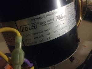 Mars 10729 1/3 Hp 230 Volt Single Speed Condenser Fan Motor for Sale in Kansas City, MO
