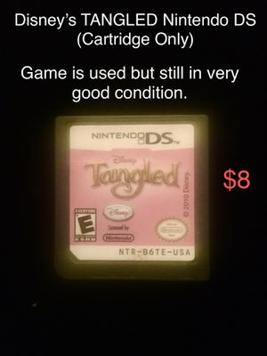 Disney's Tangled Nintendo DS (Cartridge Only) Game is used but still in very good condition. for Sale in West Covina, CA