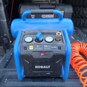 Kobalt Air Compressor With Hoses, Finish Nailers, Air Attach., for Sale in West Linn, OR