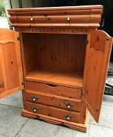 """#94880 Knotty Pine 22"""" x 65"""" x 43.5"""" Wide Bedroom Armoire for Sale in Oakland, CA"""