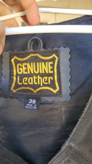 Genuine leather womens motorcycle vest. Size 38 for Sale in Henderson, NV