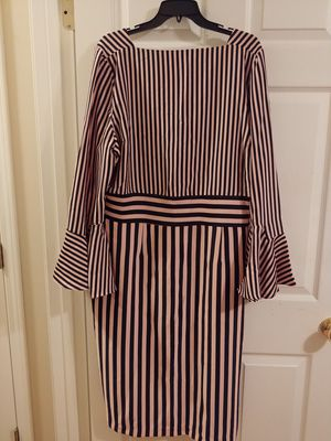 Eva Mendes Belled Sleeve Striped Dress for Sale in Hensley, AR