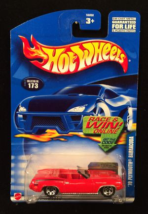 Hot Wheels '70 Plymouth Barracuda • 2002 Collector Number 173 • Red on Red for Sale in Fort Worth, TX