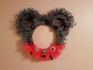 Creepy Mickey Halloween Tulle Wreath for Sale in Great Falls, VA
