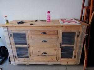 Handmade Pallet kitchen cabinet for Sale in Mebane, NC