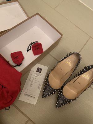 LV red bottoms denim for Sale in Atlanta, GA