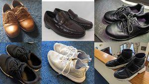 Men's Shoes white black brown dress formal slip resistant Zara sock Sneakers shoes lot for sale size 10 for Sale in Houston, TX