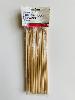 """100 Bamboo Skewers. Fox Run Craftsmen. 9"""" long. Brand new. Still sealed in original packaging. Perfect for shish kebabs, chocolate fountains, seafood for Sale in Menands, NY"""