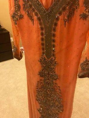 Pink Peach full heavy formal wear dress for Sale in Ashburn, VA