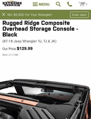 JEEP PARTS !!! Storage Console RUGGED RIDGE for Sale in Addison, IL