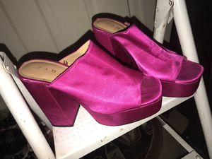 Hot 'Pink ' Zara Chunky Heels Size (US - 7 ) (UK -40 ) for Sale in Washington, DC