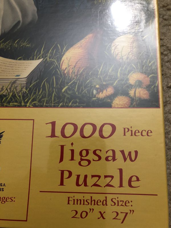1000 Puzzle Day Dreamin'. Please see all the pictures and read the description