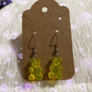 Handmade Yellow Gummy Bear Earrings for Sale in Portland, OR
