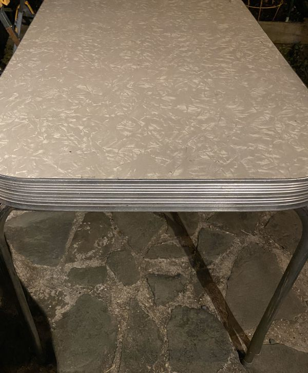 1950s Style Formica Chrome Dinette Kitchen Table