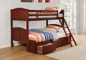Full and Twin Bunk Bed with Mattresses 📦 for Sale in Miami, FL