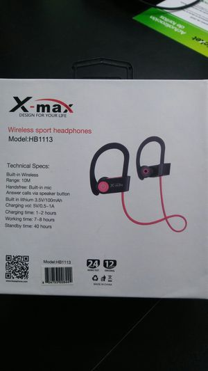 X max bluetooth wireless headphones New cricket wireless for Sale in Fresno, CA