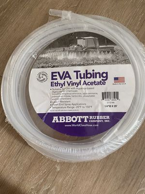 "EVA tubing 1/4""IDX 25' for Sale in Germantown, MD"