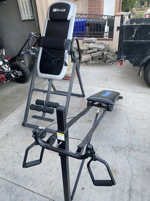 ELiTE FiTNESS inversion table heat and massage & Total Gym 1000 for Sale in Pomona, CA