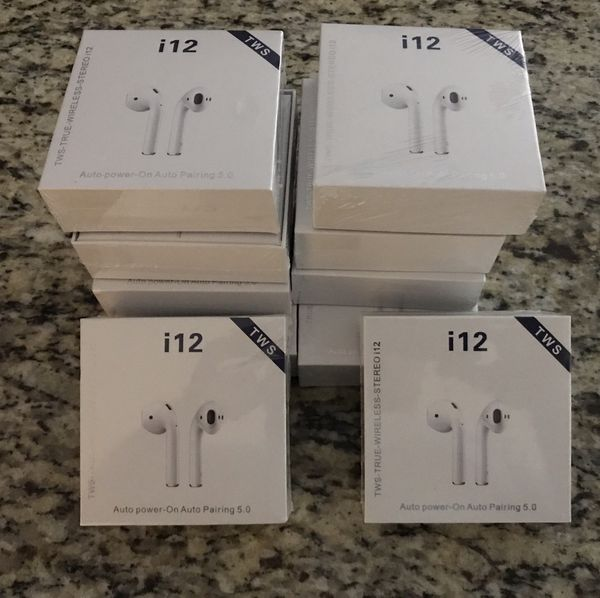 i12TWS Headset Sport Headphone Touch Control Mini Earphone Bluetooth