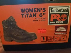 Titan Timberland Pro Work Boots Blk Size 7.5 for Sale in Denver, CO