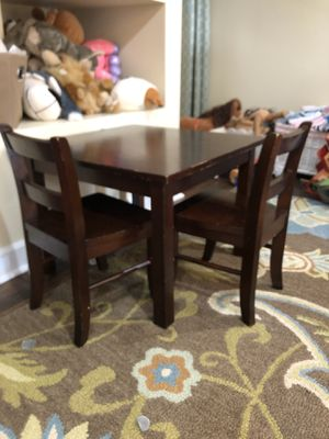 Pottery barn kids toddler my first table and chairs wood sturdy for Sale in Chicago, IL