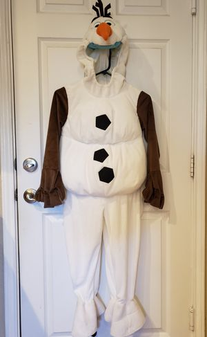 Disney frozen olaf deluxe costume kids size 5/6 for Sale in Pflugerville, TX