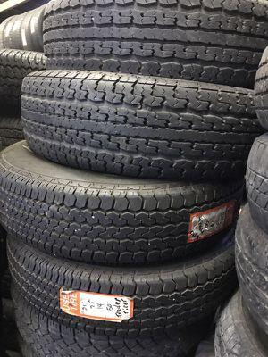 (4) heavy duty trailer tires size 215-75-14 for Sale in Belleville, IL