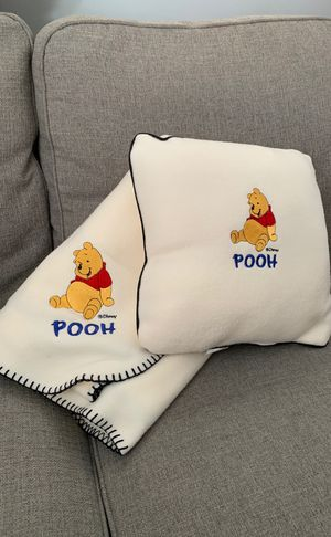 Pooh Throw Blanket & Pillow for Sale in Silver Spring, MD