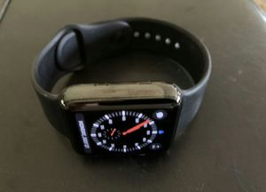 SERIES 3 BLACK STAINLESS APPLE WATCH for Sale in Winters, TX