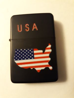 New USA flag stars and stripes black windproof oil lighter similar to zippo for Sale in Lancaster, OH