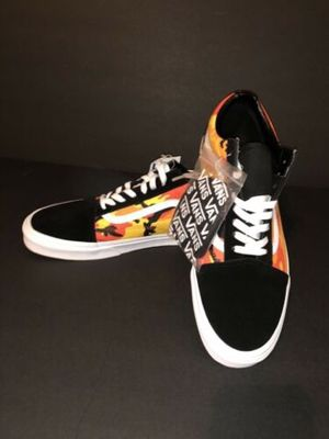 Vans Camo Spicy Orange Old Skool Pop Black Us Suede Men Size 12 for Sale in Dallas, TX