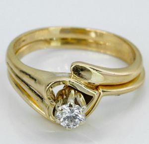 14k Gold Diamond Wedding Ring Set for Sale in Long Beach, CA