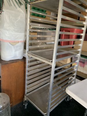 Rolling Bakers Rack. Holds 20 trays. Excellent condition for Sale in Orange, CA