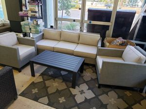 New 4pc outdoor patio furniture set sunbrella fabric tax included for Sale in Hayward, CA
