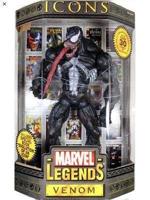 Venom - Marvel Legends - Icons - Includes Comic - Large Figure - Mint Condition - Brand New - Exclusive Toys for Sale in Lawndale, CA