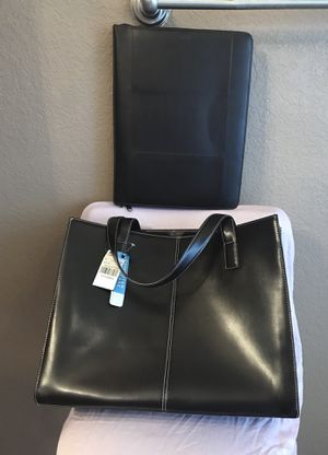 Wilson leather tote bag and writing bag new for Sale in Killeen, TX