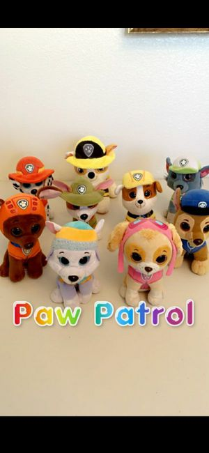 $18 Lot of Paw Patrol Puppies Puppy Dogs Plush Stuffed Animals for Sale in Hemet, CA