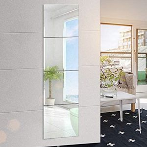 EDGEWOOD Parkwood Wall Mirrors Flexible Real Glass Flat Frameless 4-Piece Set, 14x14 Inches NEW, OPEN BOX for Sale in Los Angeles, CA