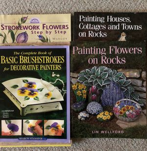 Decorative and brushstroke painting instruction books for Sale in Wolcott, CT