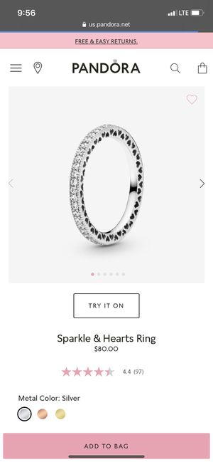 Pandora ring for Sale in Houston, TX