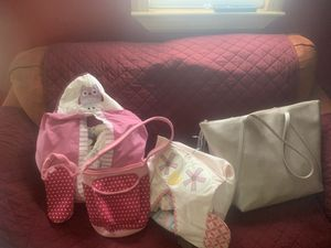 Baby bag and newborn diapers and newborn baby blankets and baby clothing 0 to 6 months for Sale in Lancaster, PA