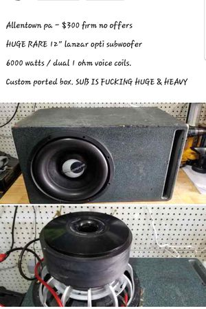 6000 watt lanzar opti sub in custom box for Sale in Allentown, PA