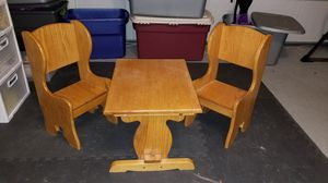 Handcrafted real wood kids table and chairs for Sale in Virginia Beach, VA