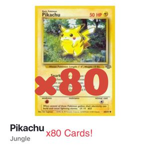 HELD FOR BRYAN x80 Jungle Pokemon Pikachu LP/NM cards for Sale in San Francisco, CA