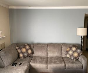 """Grey sofa/couch """"sectional"""" with chaise O.B.O. for Sale in Livermore, CA"""